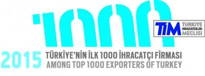 TİM 2015 İhracat İlk 1000 Logosu TR